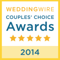 2014 Wedding Wire award badge