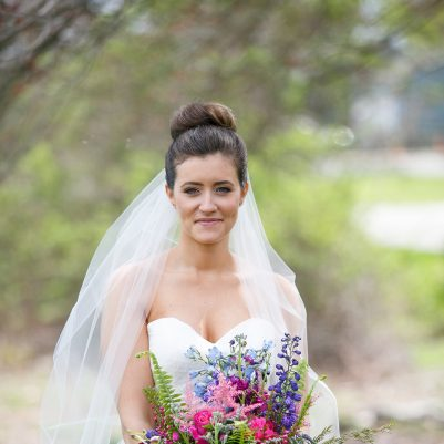 Newport RI wedding updo