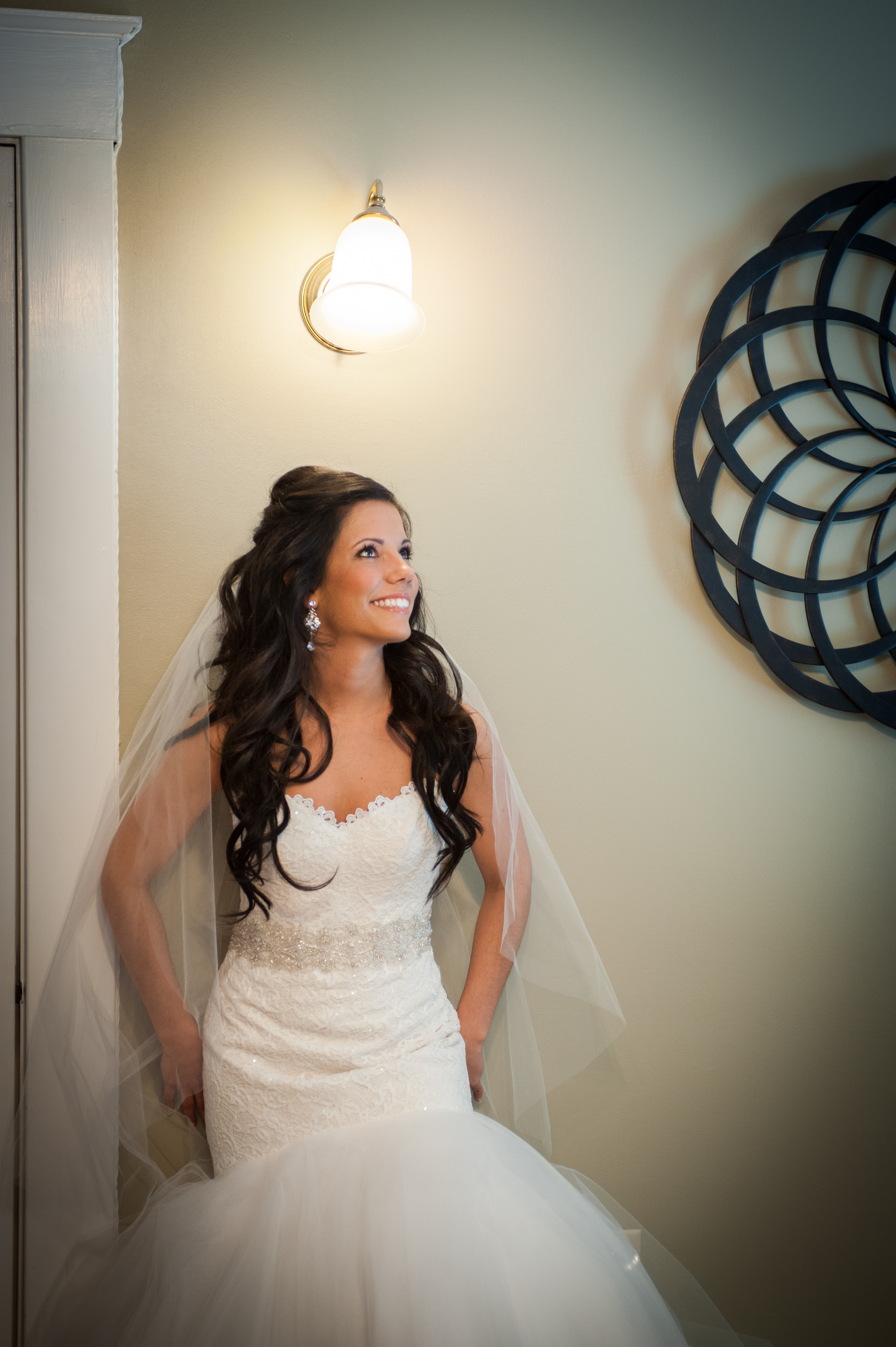 Glowy bridal makeup hair down
