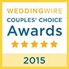 2015 Wedding Wire award badge