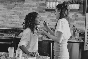 Newport Rhode Island summer wedding makeup